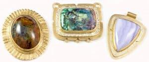 Framed bezel pendant