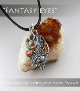 Fantasy Eyes Pendant with Anna Mazon