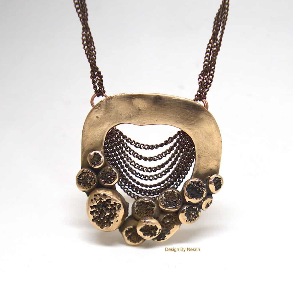 Nesrin Yesilmen- Knot Knot Series Necklace- Bronze Clay